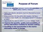 purpose of forum