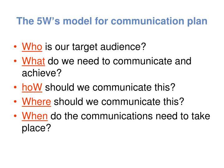 The 5W's model