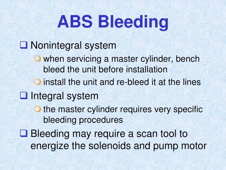 ABS Bleeding