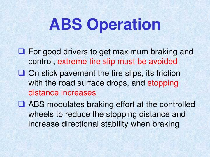 ABS Operation