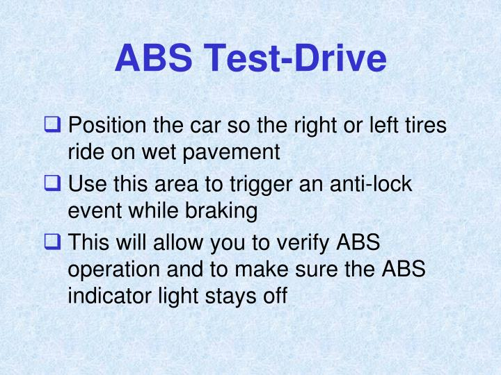 ABS Test-Drive