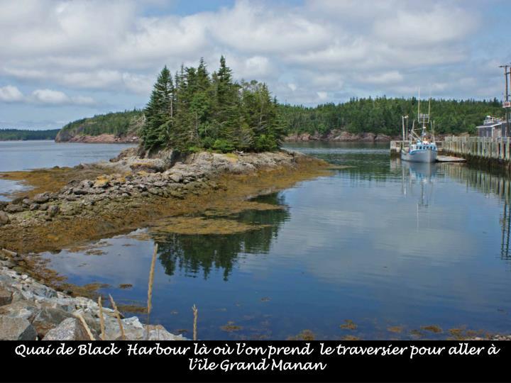 Quai de Black  Harbour là où l'on prend  le traversier pour aller à l'île Grand Manan