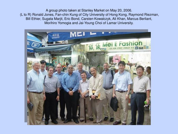 A group photo taken at Stanley Market on May 20, 2006.
