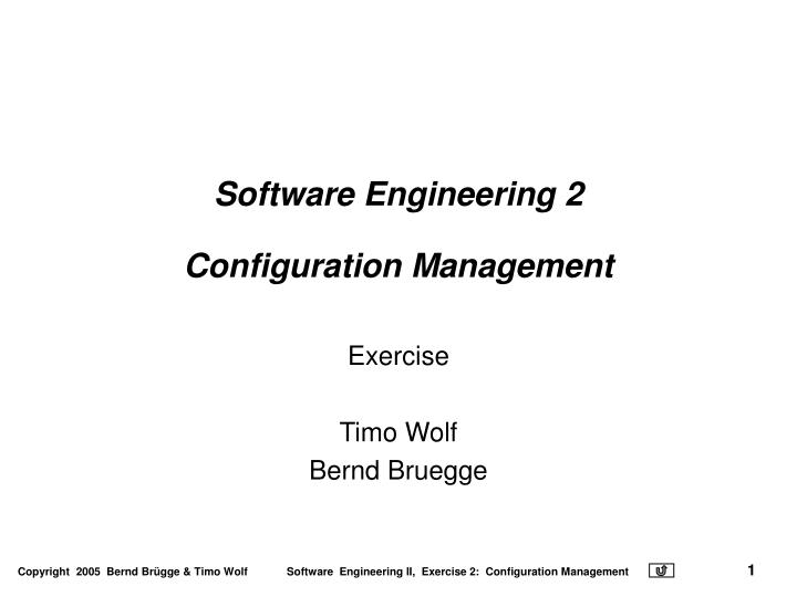 software engineering 2 configuration management n.