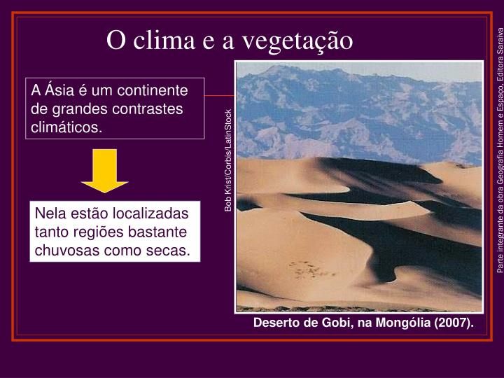 O clima e a vegetação
