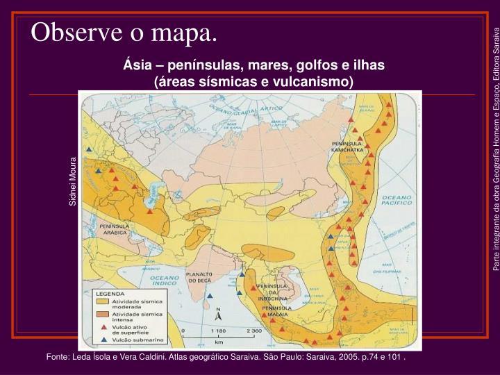 Observe o mapa.