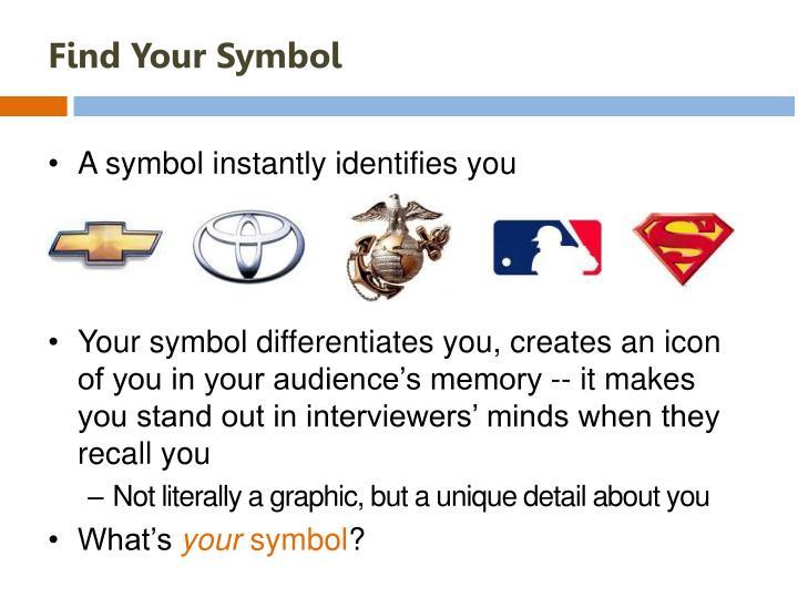 Find Your Symbol