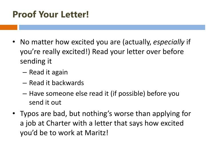 Proof Your Letter!