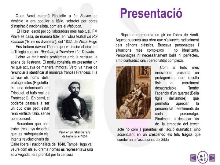 Presentaci