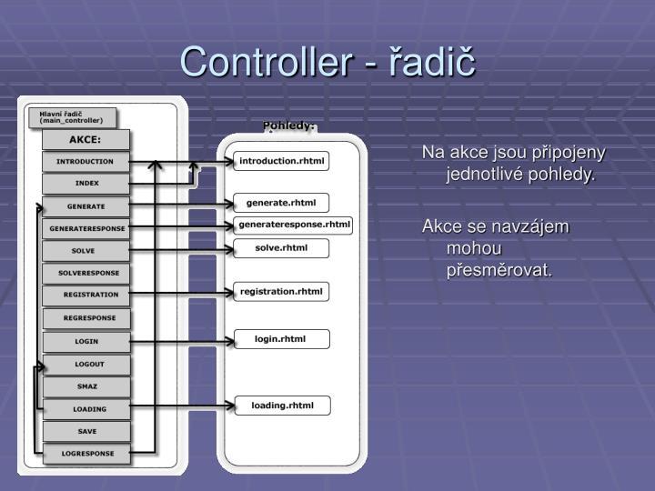 Controller - řadič