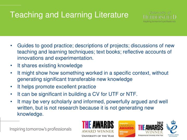 reflective account on learning
