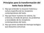 principios para la transformaci n del texto hacia delante