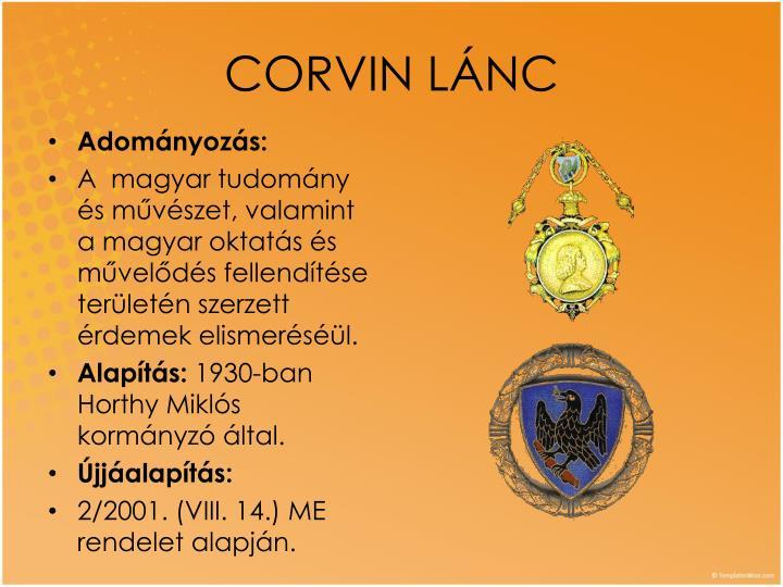 CORVIN LÁNC