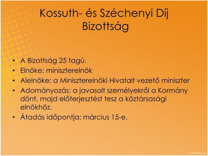 Kossuth- és Széchenyi Díj
