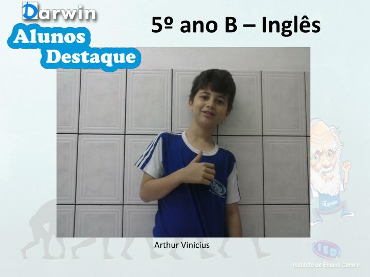 5º ano B – Inglês