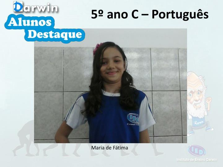 5º ano C – Português