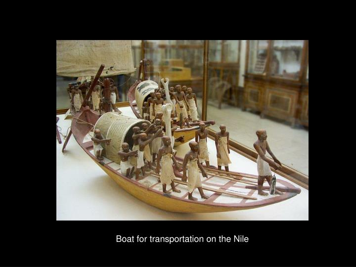 Boat for transportation on the Nile