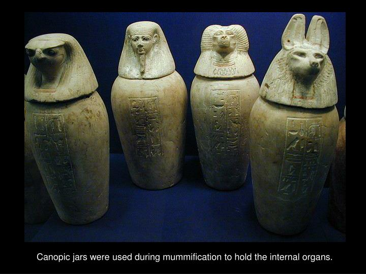 Canopic jars were