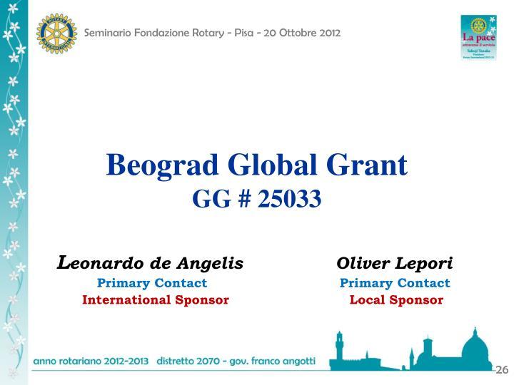 Beograd Global Grant