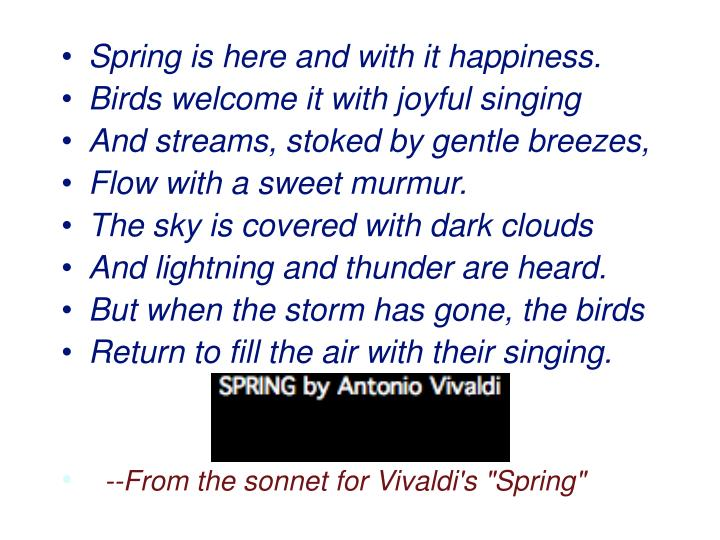 Spring is here and with it happiness.