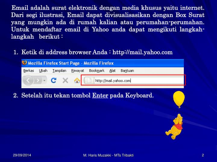 Email adalah surat elektronik dengan media khusus yaitu internet. Dari segi ilustrasi, Email da...