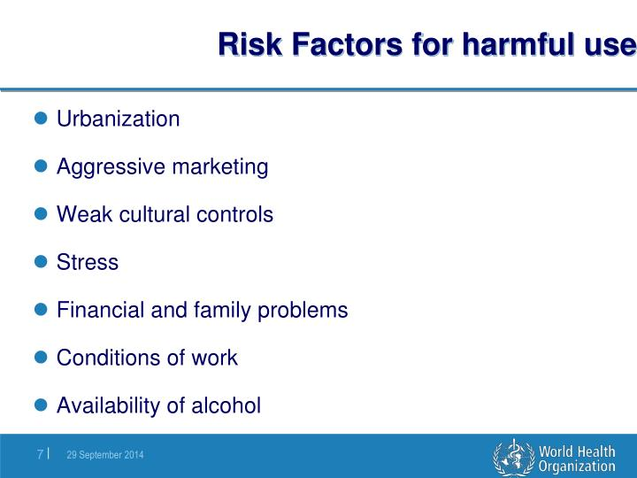 Risk Factors for harmful use