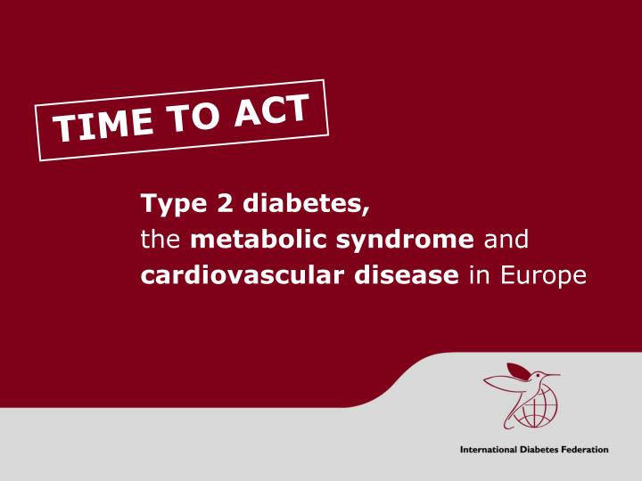 type 2 diabetes the metabolic syndrome and cardiovascular disease in europe n.