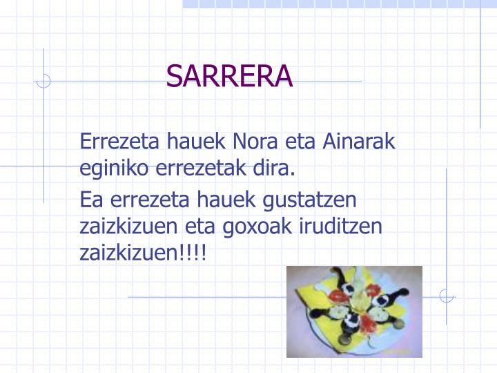 Sarrera