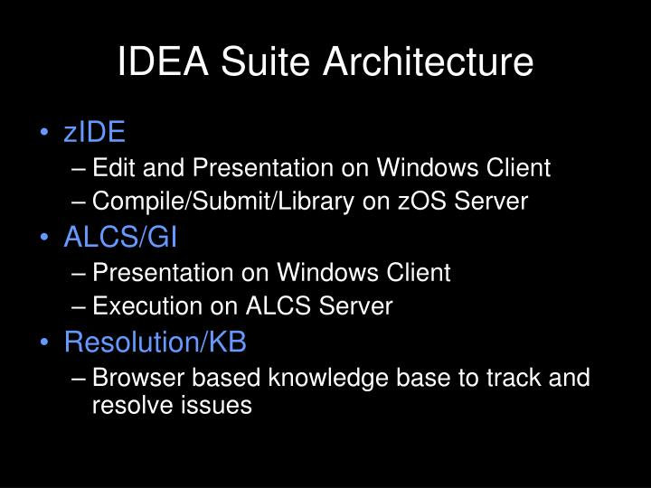 IDEA Suite Architecture
