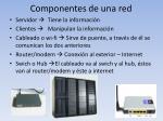 componentes de una red