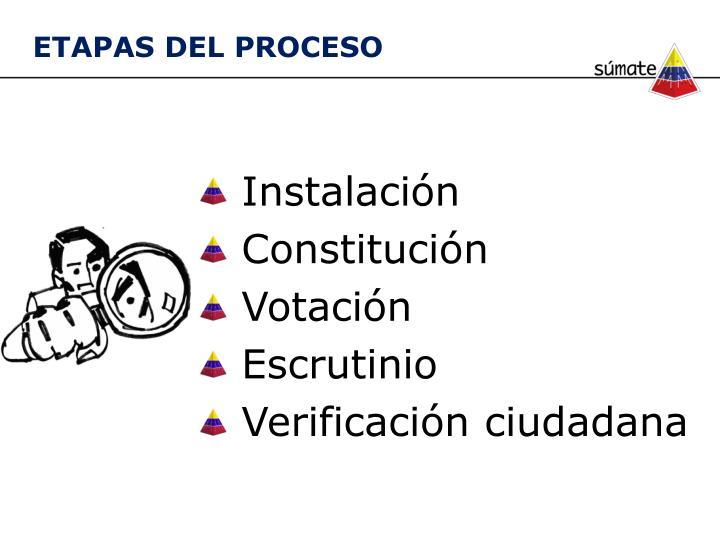 Instalaci n constituci n votaci n escrutinio verificaci n ciudadana