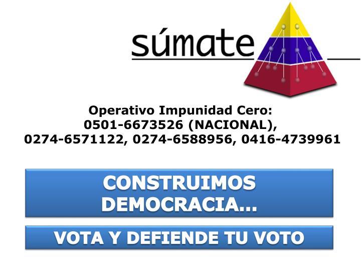 Operativo Impunidad Cero: