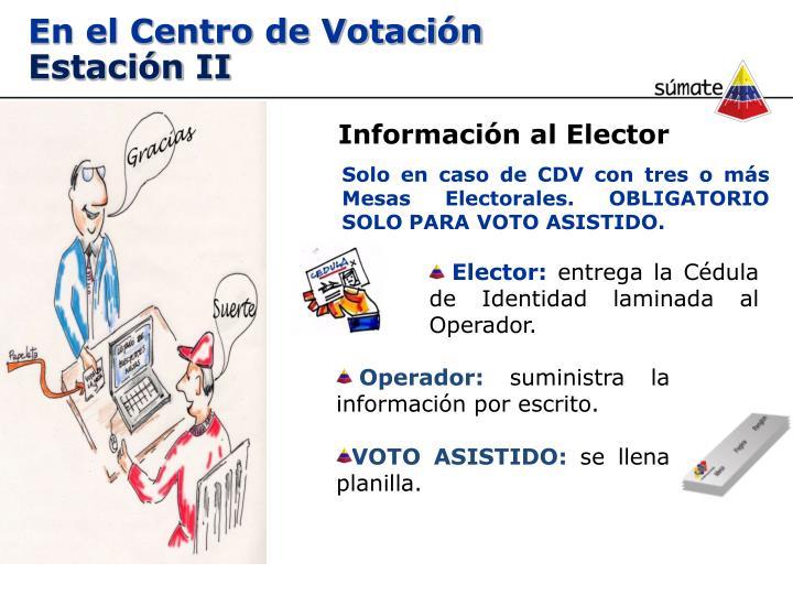 En el Centro de Votación