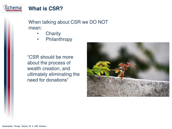 should csr matter outside of the Start studying chapter 9 learn the boundaries of what is right and which ones fall outside—such universal initiatives that make up the csr.
