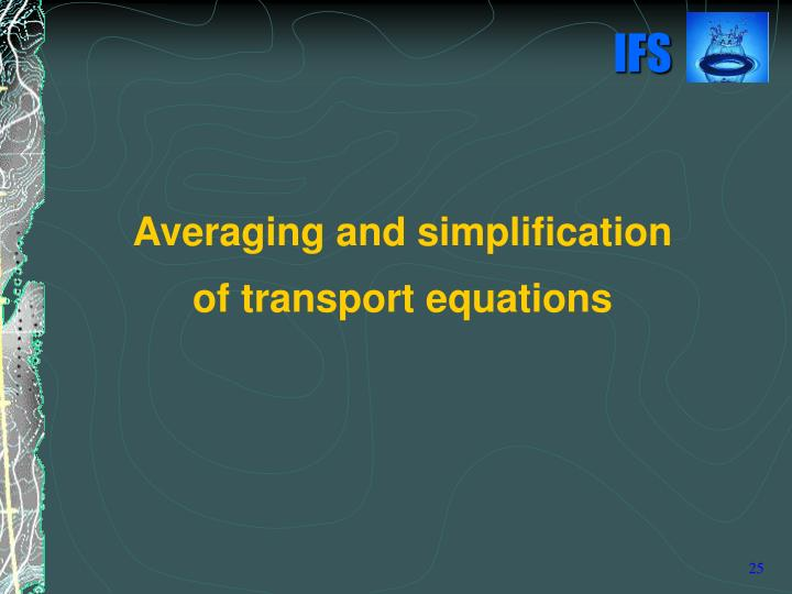 Averaging and simplification