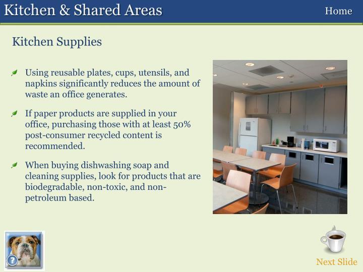 Kitchen & Shared Areas