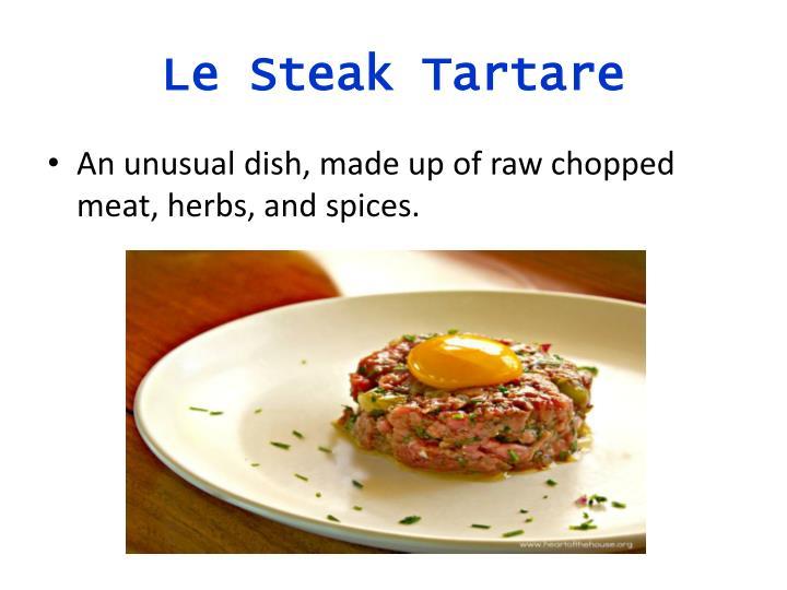 Le Steak Tartare