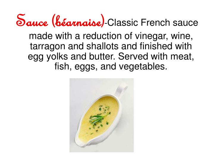 Sauce (béarnaise)