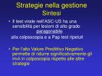 strategie nella gestione sintesi