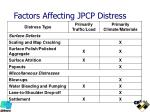 factors affecting jpcp distress1