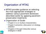 organization of mtag