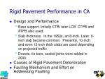 rigid pavement performance in ca