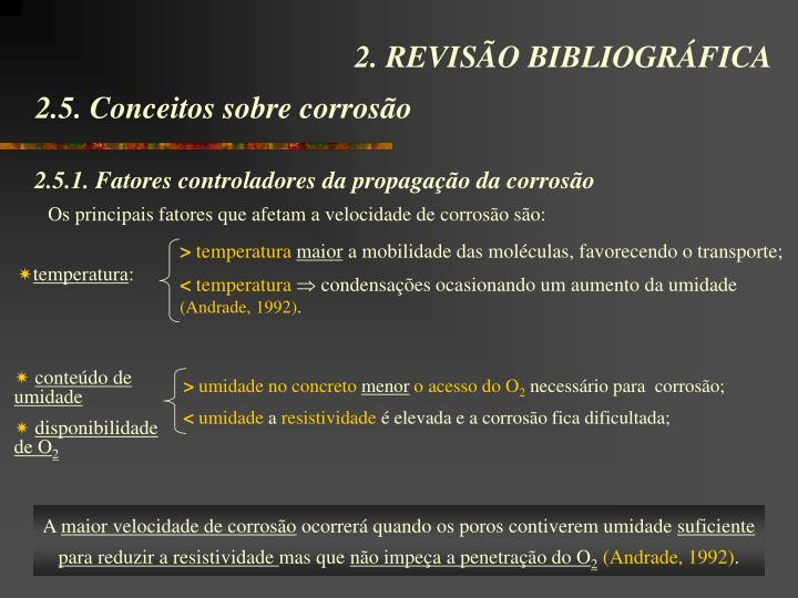 2.5.1. Fatores controladores da propagação da corrosão