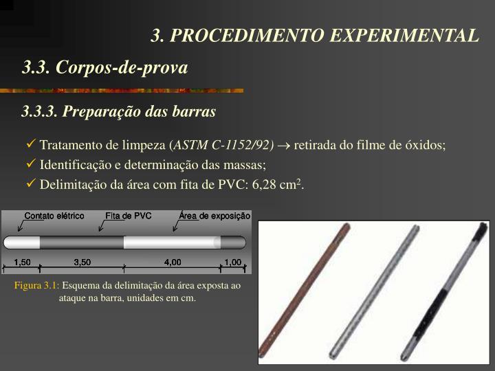 3.3.3. Preparação das barras