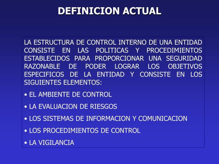 DEFINICION ACTUAL