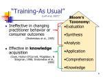 training as usual leff et al 2007