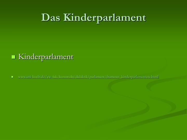Das Kinderparlament