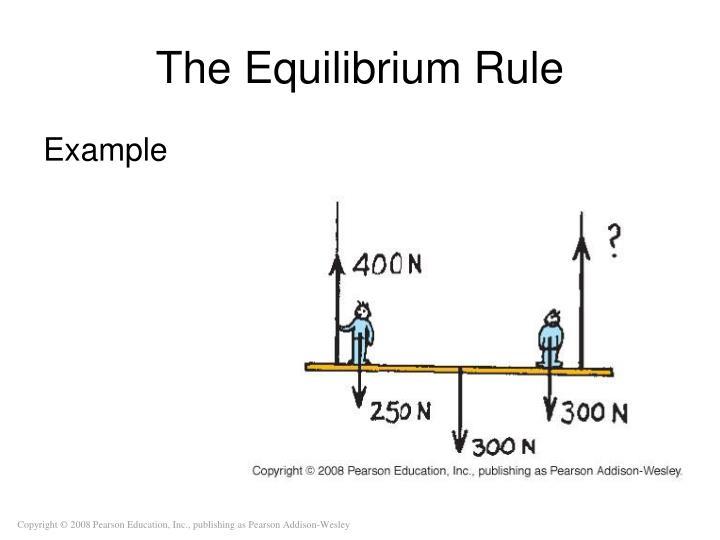The Equilibrium Rule