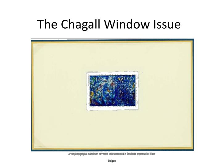 the chagall window issue n.