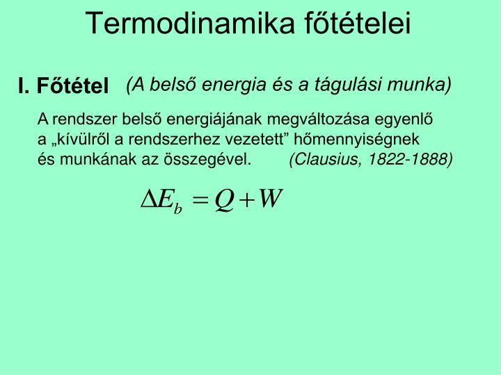 Termodinamika főtételei